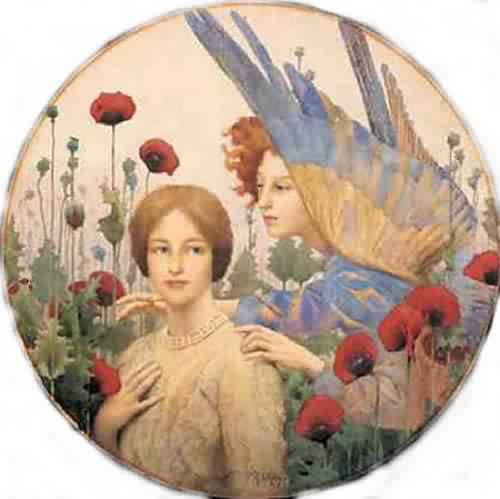 The Message | Thomas Cooper Gotch | oil painting