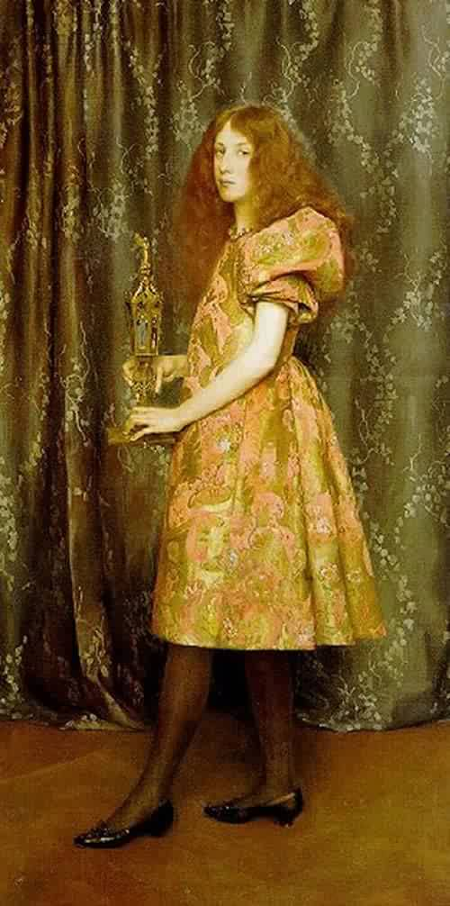 Heir to all the Ages | Thomas Cooper Gotch | oil painting
