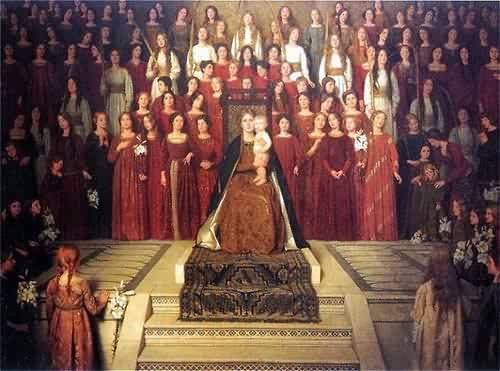 The Mother Enthroned | Thomas Cooper Gotch | oil painting