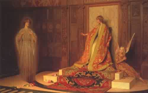 Dawn of Womanhood | Thomas Cooper Gotch | oil painting