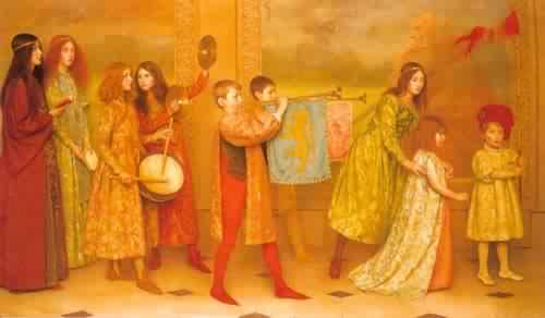 The Pageant of Childhood | Thomas Cooper Gotch | oil painting