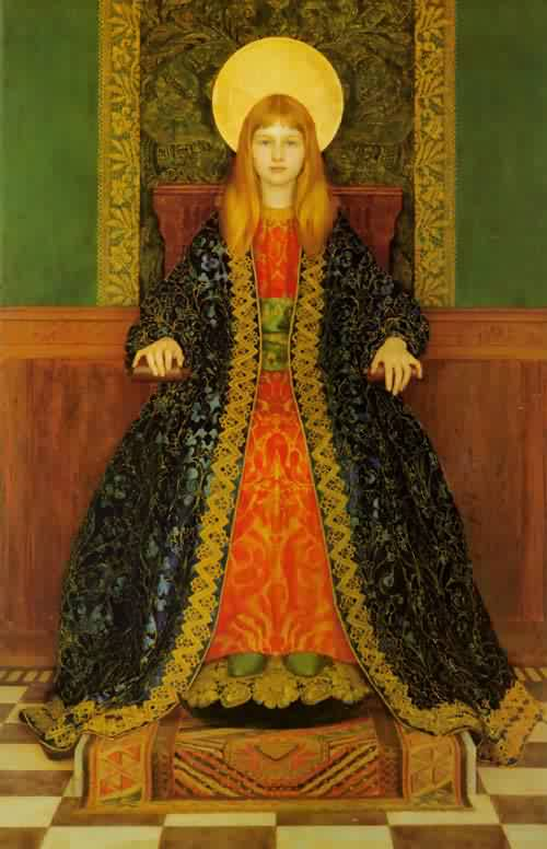 The Child Enthroned | Thomas Cooper Gotch | oil painting