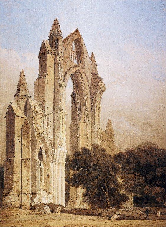Guisborough Priory Yorkshire | Thomas Girtin | oil painting