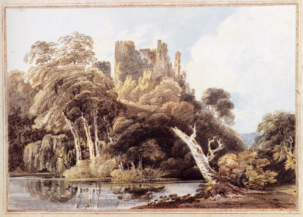 Berry Pomeroy Castle Devon | Thomas Girtin | oil painting