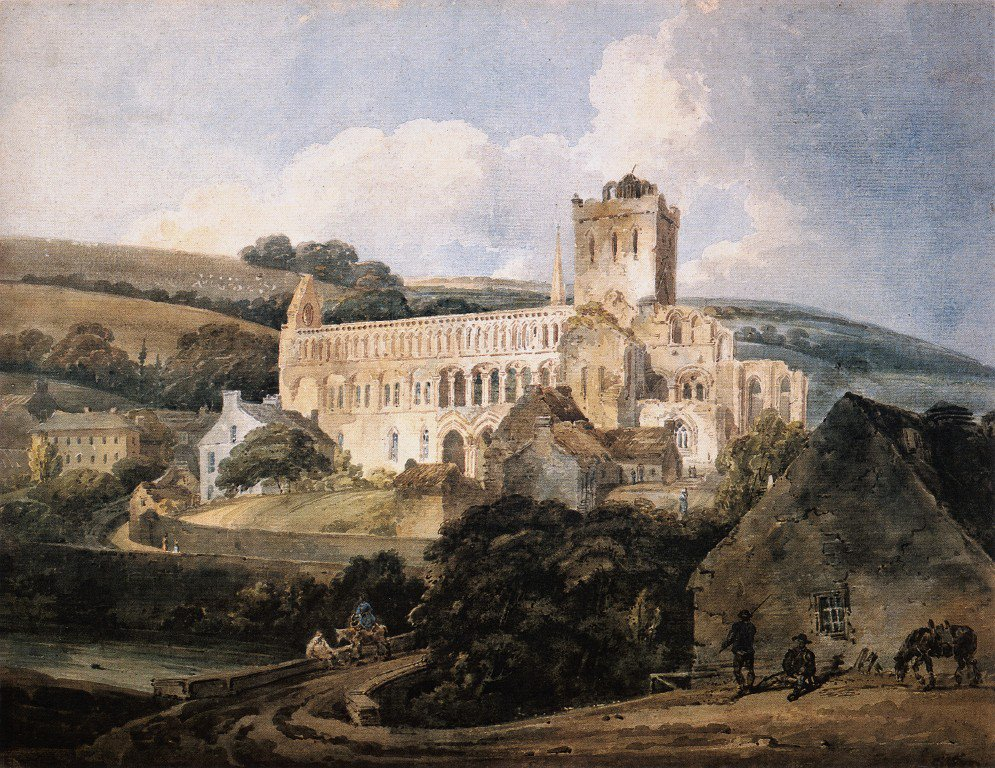Jedburgh Abbey from the South East | Thomas Girtin | oil painting