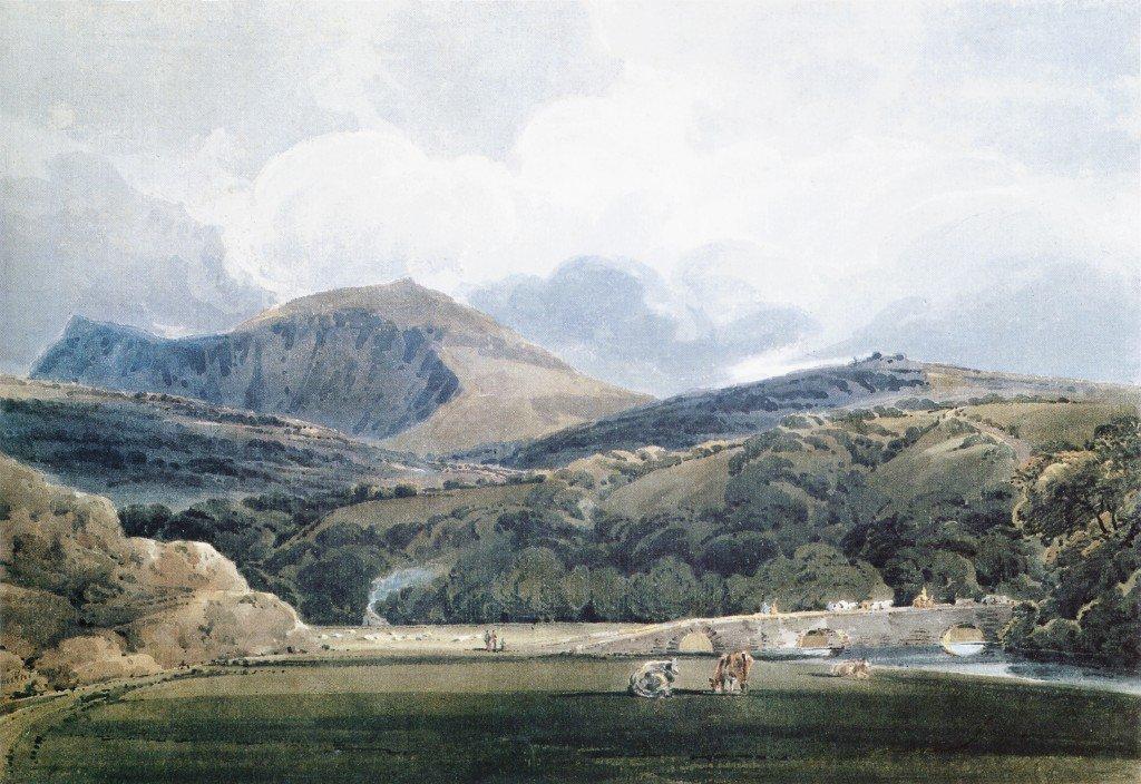 Mynnydd Mawr North Wales | Thomas Girtin | oil painting