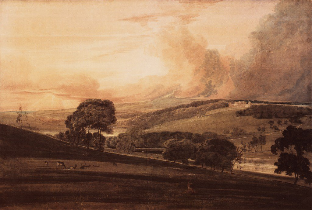 Harewood House Yorkshire from the South East | Thomas Girtin | oil painting