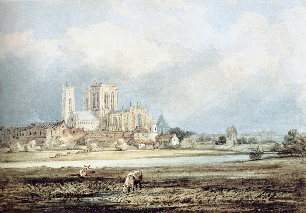 York Minster from the South East with Layerthorpe Bridge | Thomas Girtin | oil painting