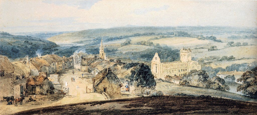The Village of Jedburgh Scotland | Thomas Girtin | oil painting
