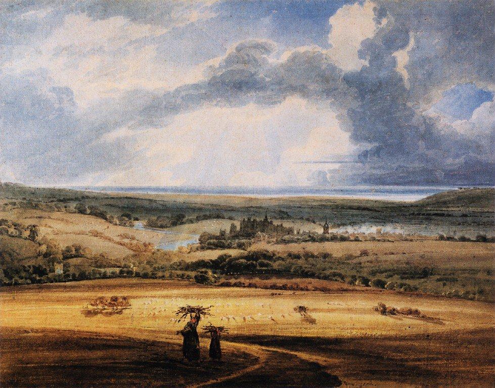 Alnwick Castle from Brizlee Northumberland | Thomas Girtin | oil painting