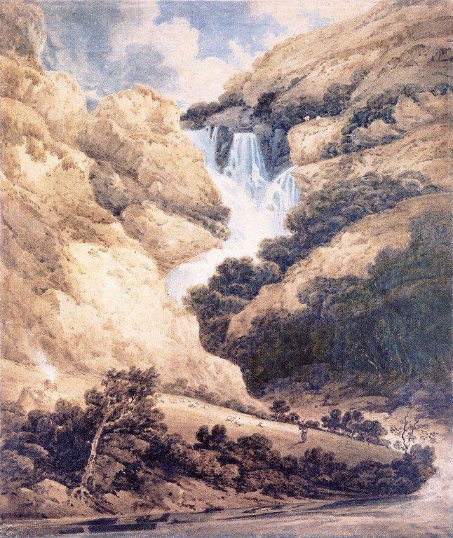 Ogwen Falls North Wales | Thomas Girtin | oil painting