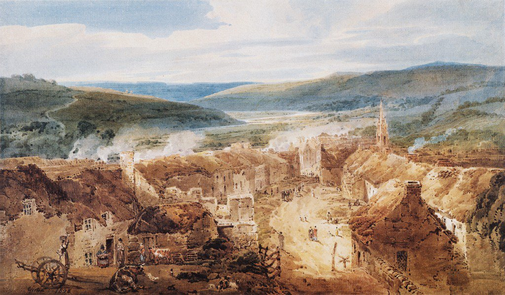 The Village of Jedburgh Roxburghshire | Thomas Girtin | oil painting