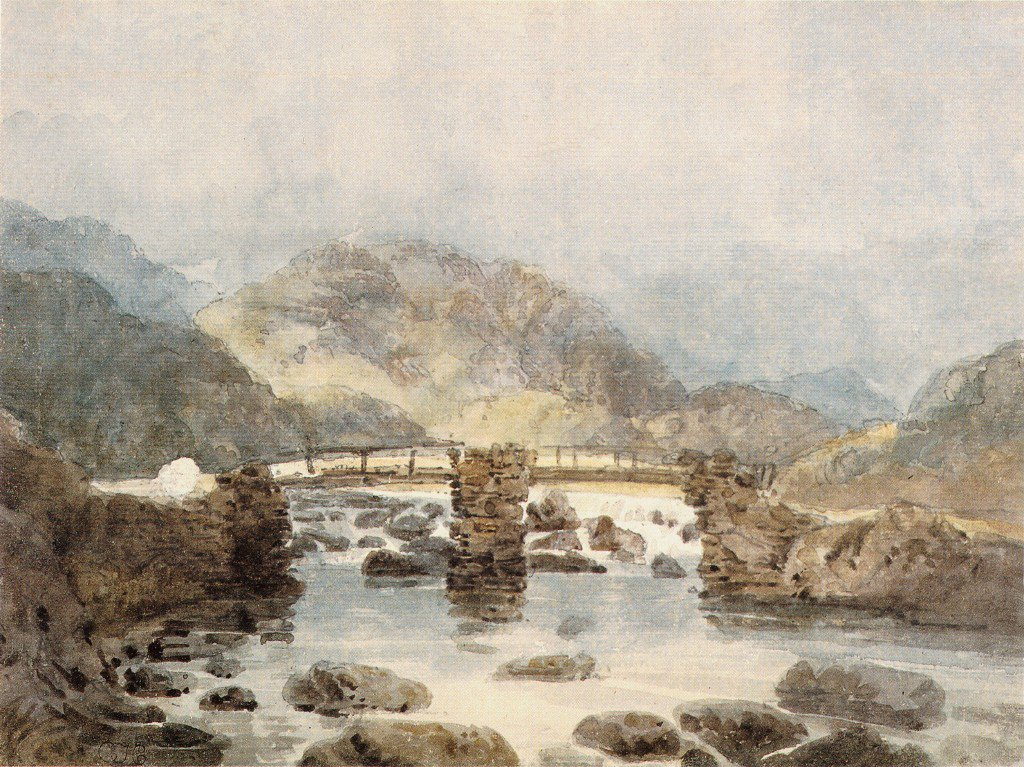Bridge near Beddgelert | Thomas Girtin | oil painting