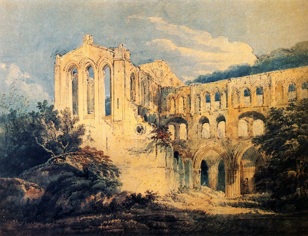 Rievaulx Abbey | Thomas Girtin | oil painting