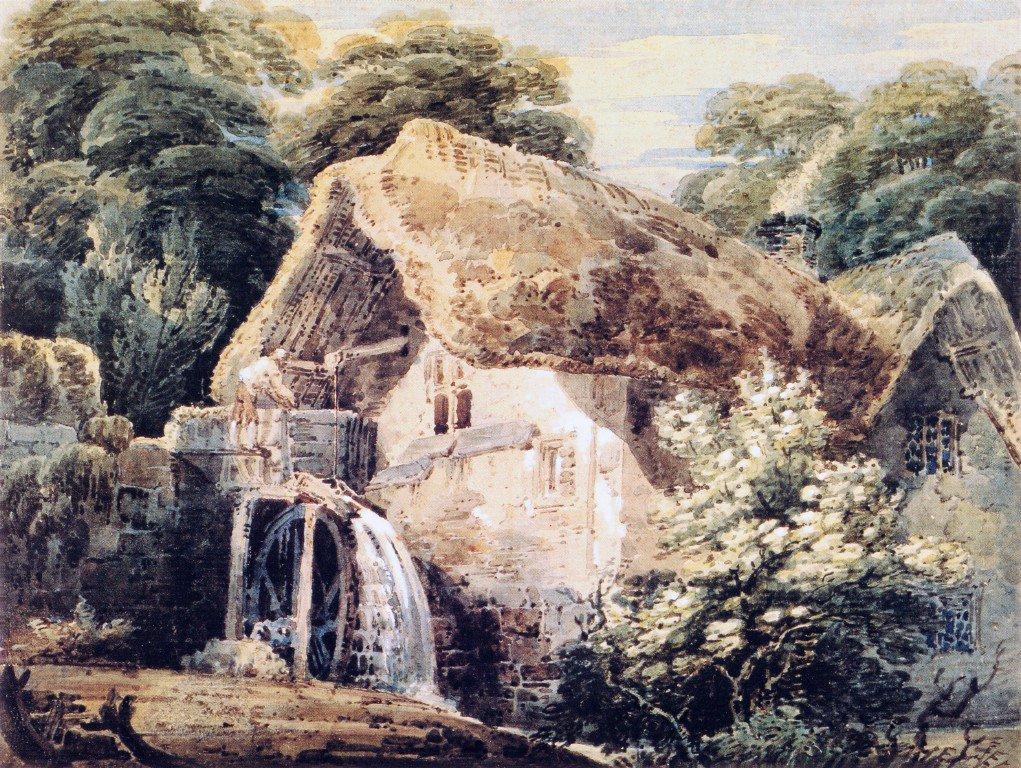 An Overshot Mill | Thomas Girtin | oil painting