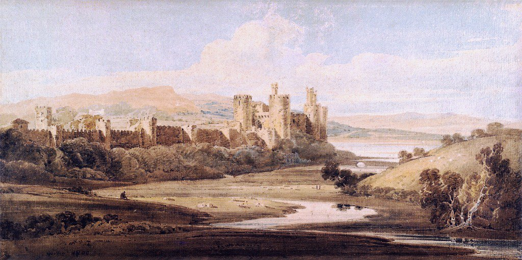 Castle Conway from the River Gyffin | Thomas Girtin | oil painting