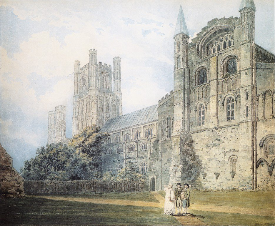 Ely Cathedral from the South East | Thomas Girtin | oil painting