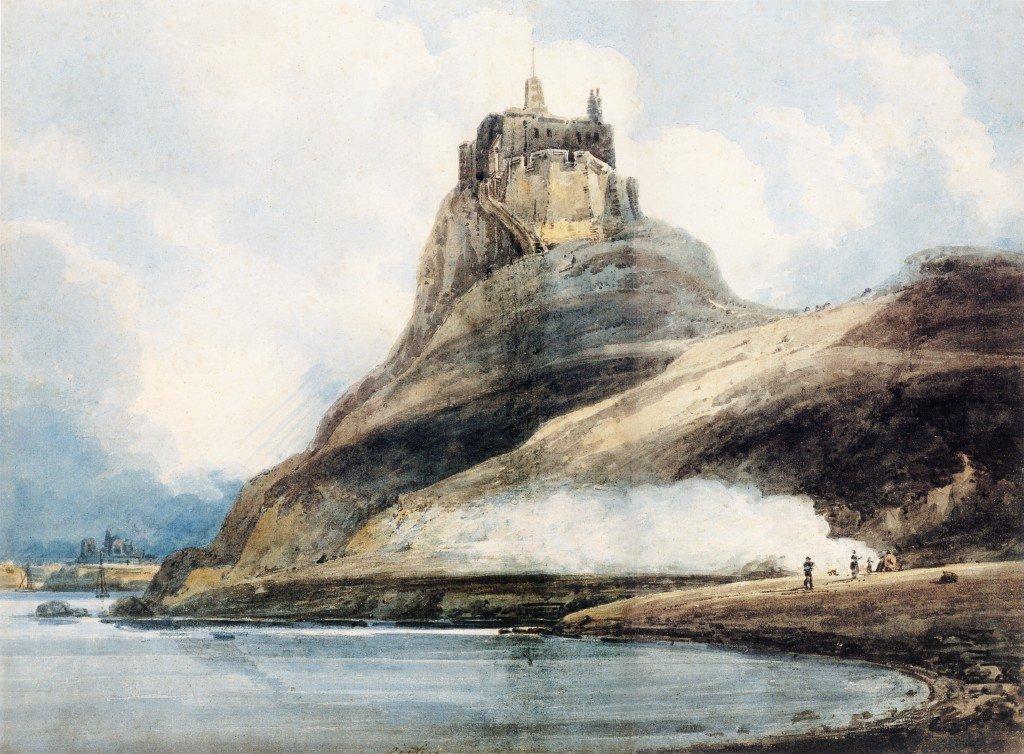Lindisfarne Castle Holy Island   Thomas Girtin   oil painting