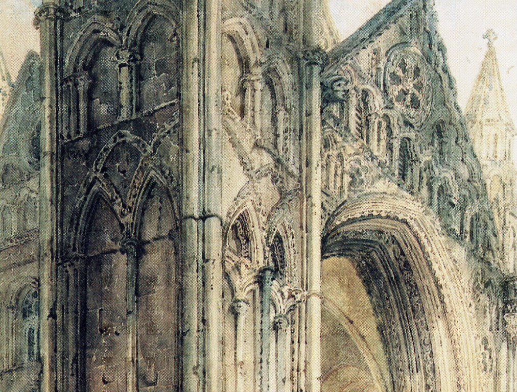 The West Front of Peterborough Cathedral | Thomas Girtin | oil painting