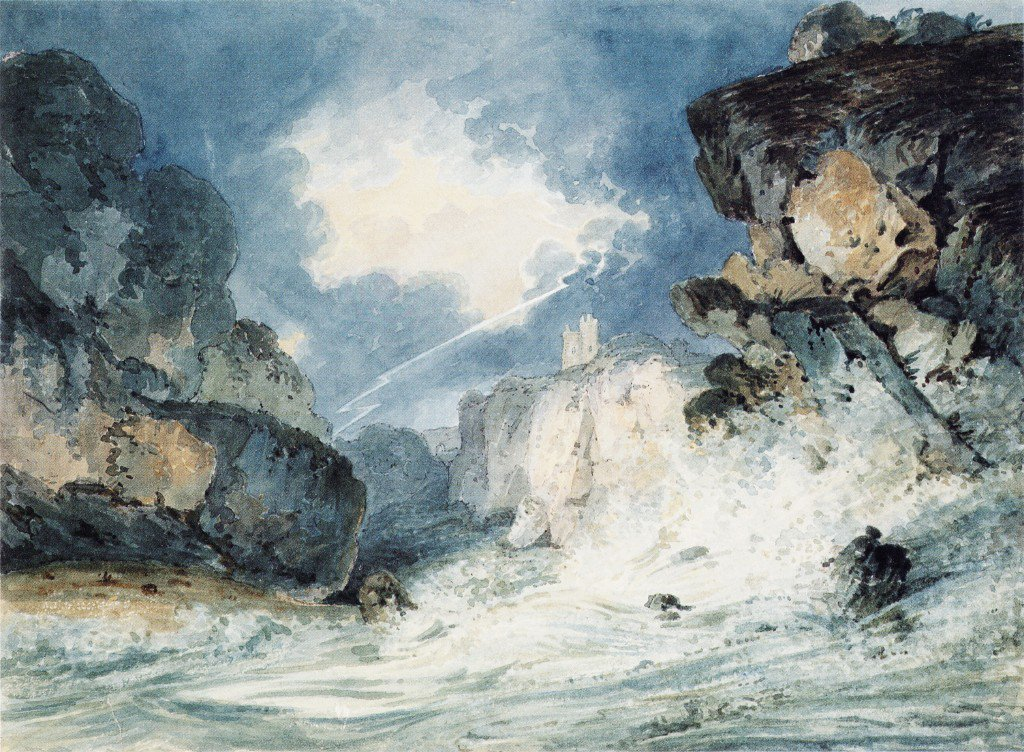 Dunnottar Castle Scotland in a Thunderstorm | Thomas Girtin | oil painting