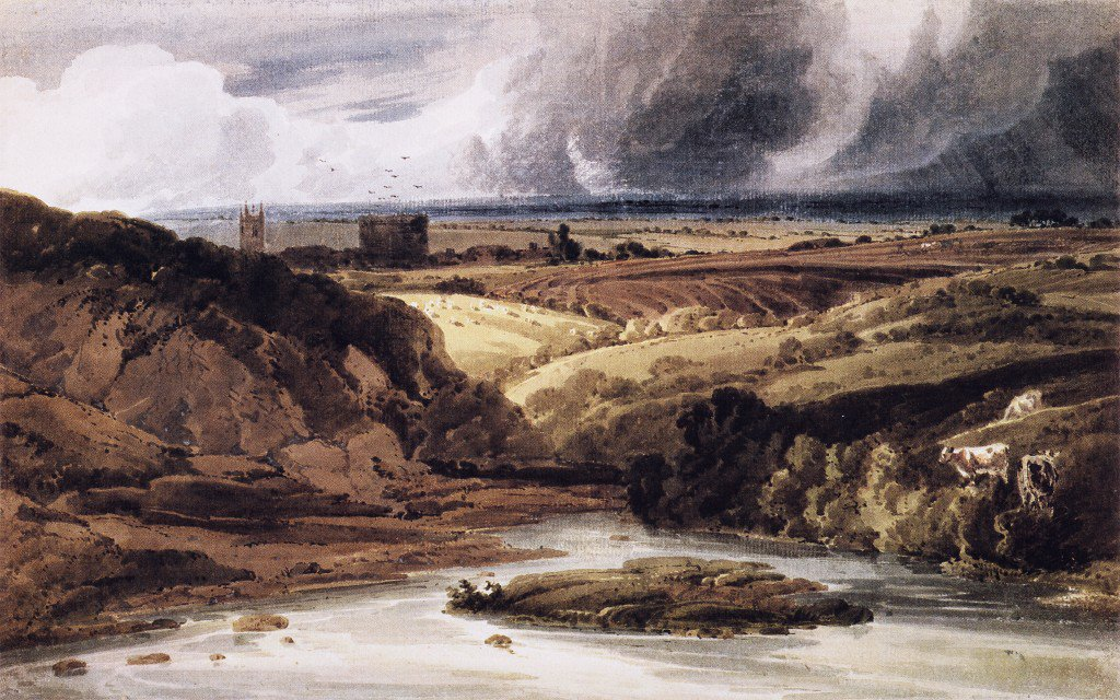 Lydford Castle Devon   Thomas Girtin   oil painting