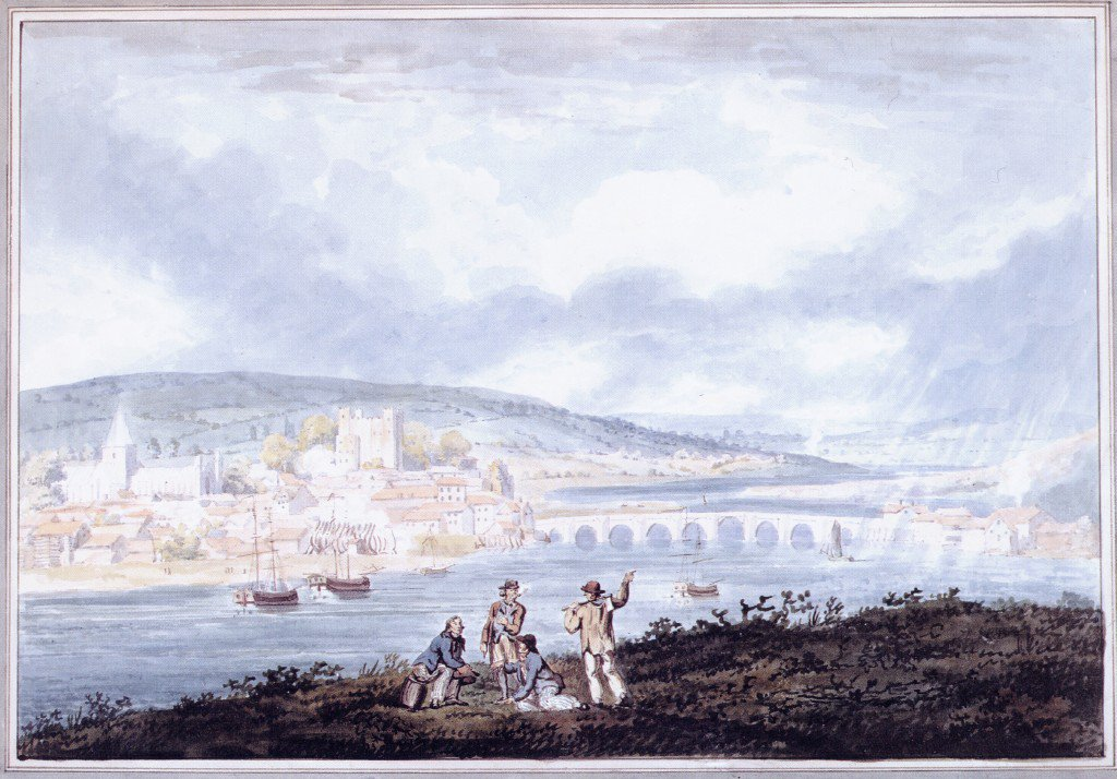 Rochester Kent from the North | Thomas Girtin | oil painting