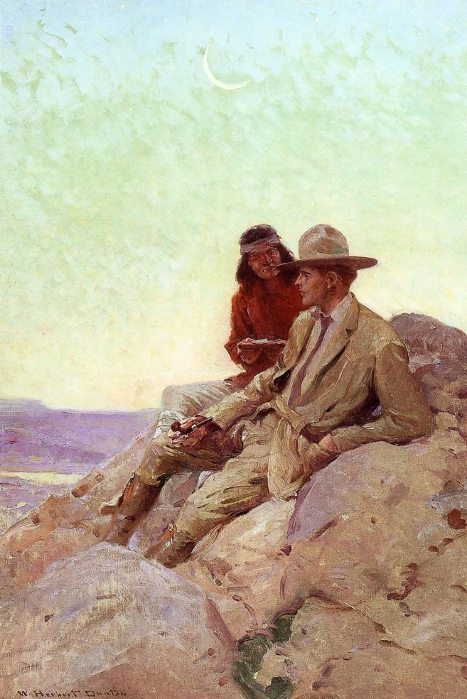 Who Sabez the Way of the Great Spirit 1915 | W. Herbert Dunton | oil painting