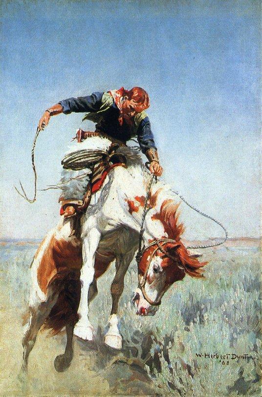 Bronc Rider 1903 | W. Herbert Dunton | oil painting