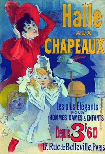 Halle Aux Chapeaux | Jules Cheret | oil painting