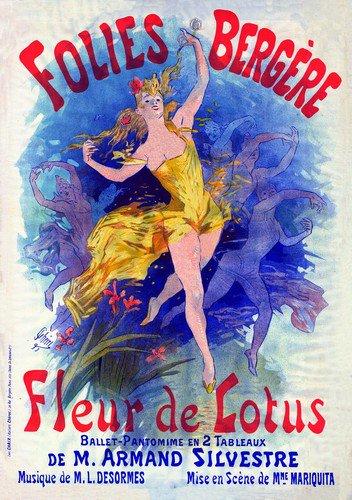 Folies Bergere Fleurd | Jules Cheret | oil painting