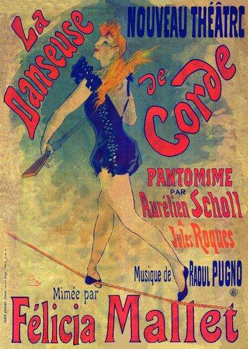 La Danseuse De Corde | Jules Cheret | oil painting