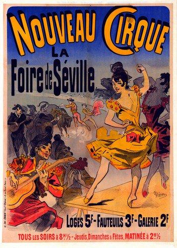 Nouveau Cirque | Jules Cheret | oil painting