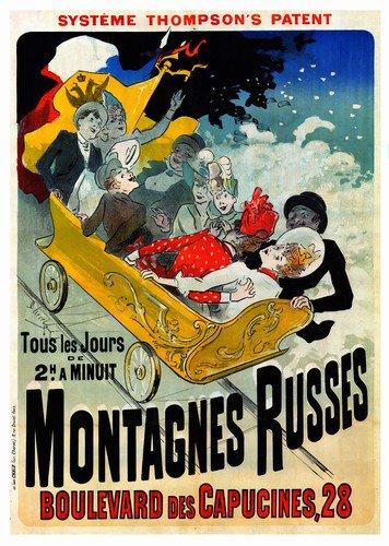 Montagnes Russes | Jules Cheret | oil painting