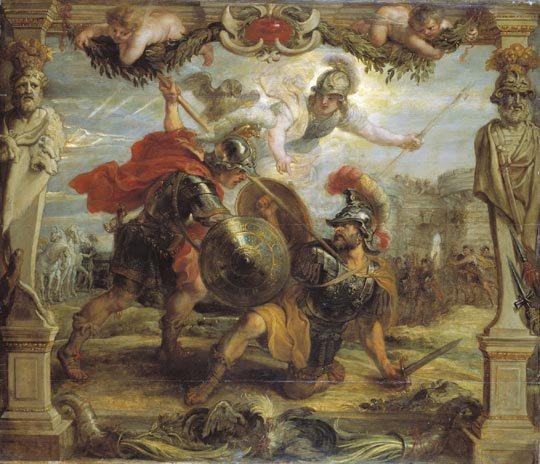 Achille Slays Hector | Peter Paul Rubens | oil painting