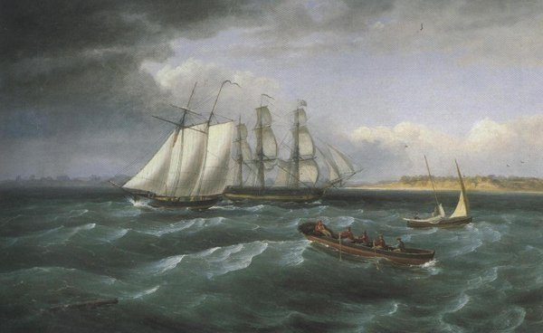 Mouth of the Deleware | Thomas Birch | oil painting