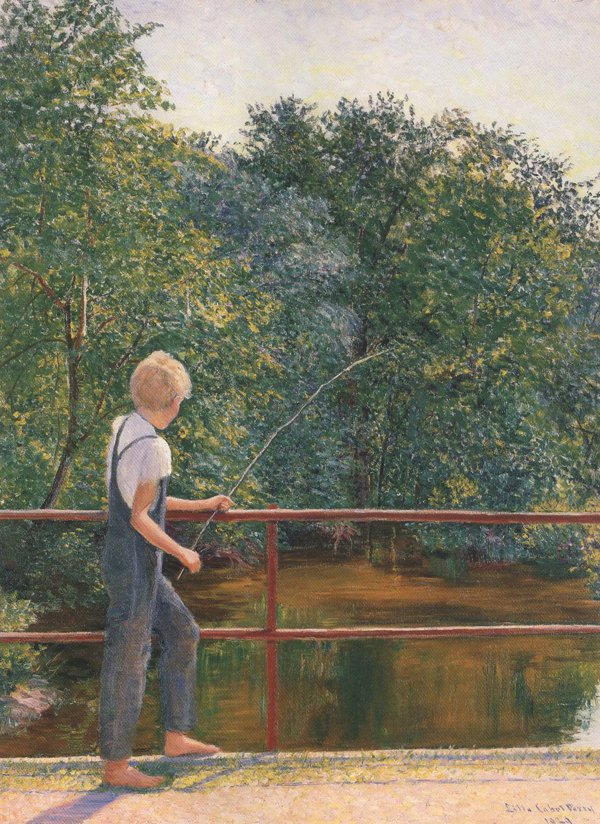 Boy Fishing 1929 | Lilla Cabot Perry | oil painting