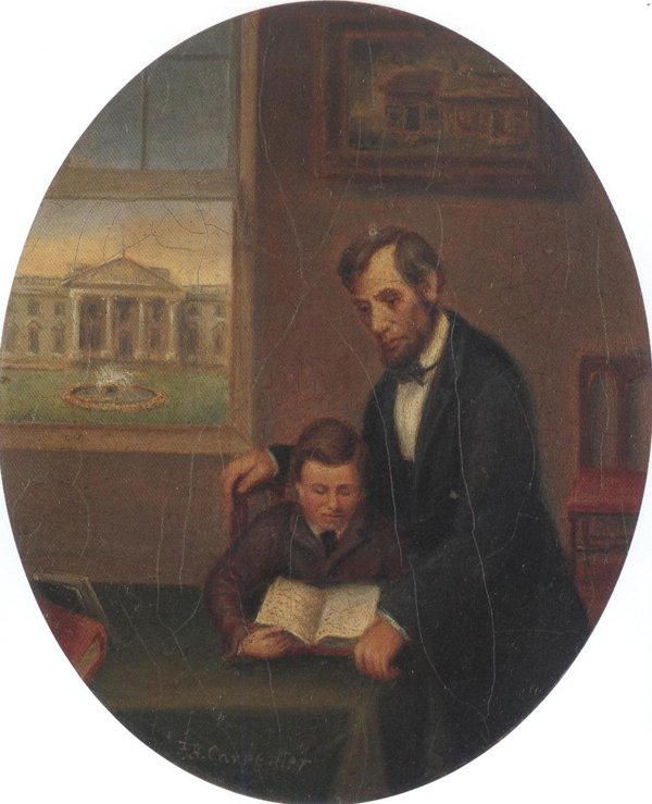 Lincoln And Tad 1873 74 | Francis Bicknell Carpenter | oil painting