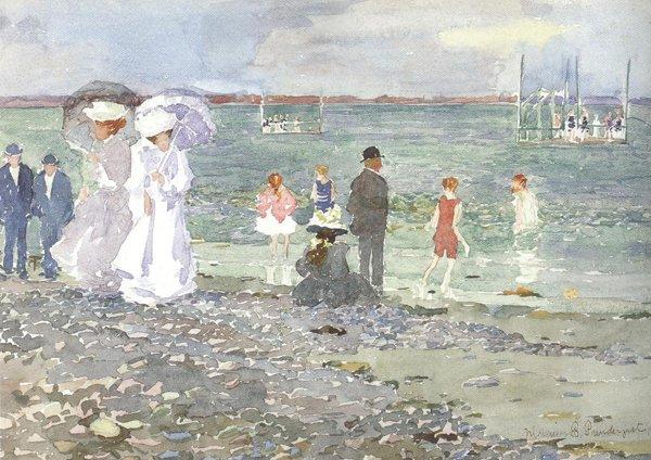 Revere Beach 1896 97 | Maurice Brazil Prendergast | oil painting