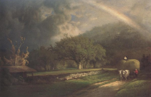 The Rainbow In The Berkshire Hills 1869 | George Inness | oil painting