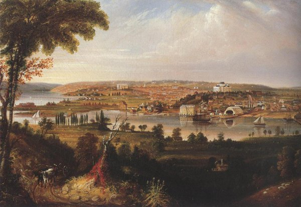 City Of Washington From Beyond The Navy Yard 1833 | George Cooke | oil painting