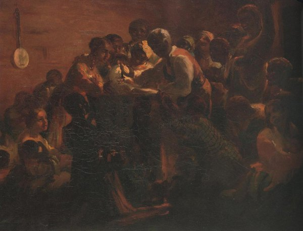 Watch Meeting Dec.31st 1862 Wating For The Hour 1863 | William Tolman Carlton | oil painting
