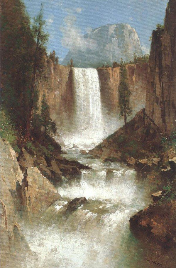 Vernal Falls Yosemite 1889 | Thomas Hill | oil painting