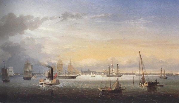 Boston Harbor 1854 | Fitz Hugh Lane | oil painting