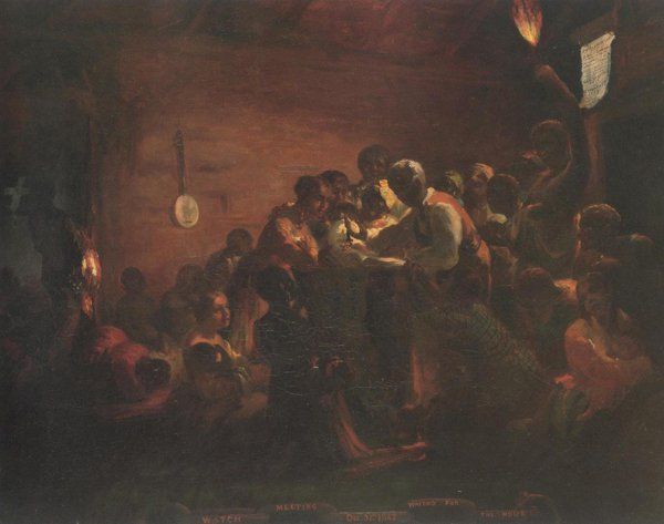 Watch Meeting Dec.31st 1862 Waiting For The Hour 1863 | William Tolman Carlton | oil painting