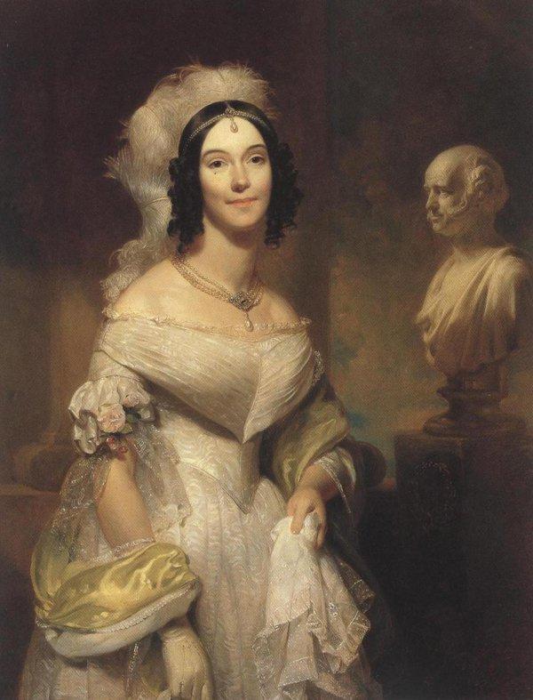 Angelica Singleton Van Buren 1842 | Henry Inman | oil painting