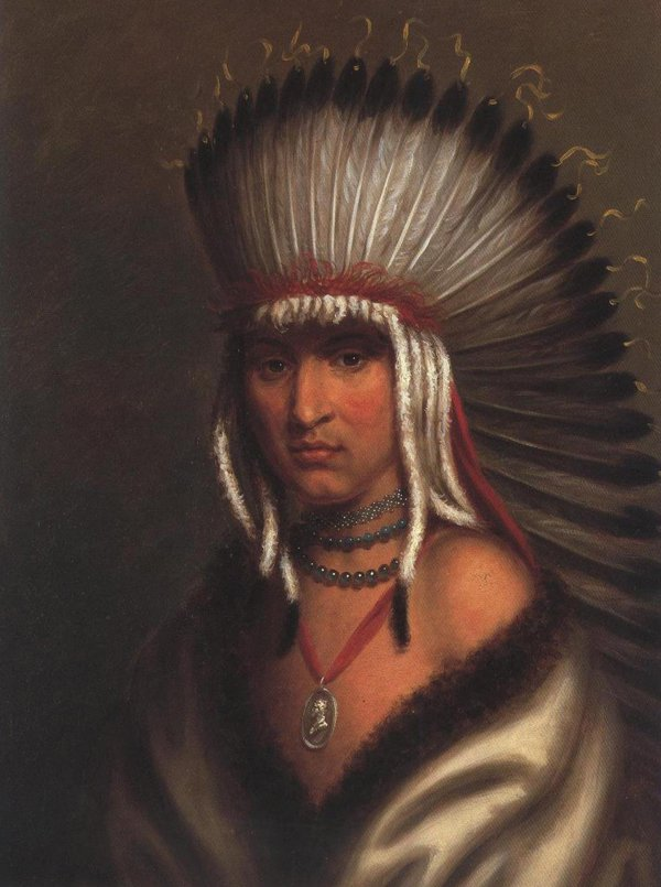 Petalesharro(Generous Chief) Pawnee 1822 | Charles Bird King | oil painting