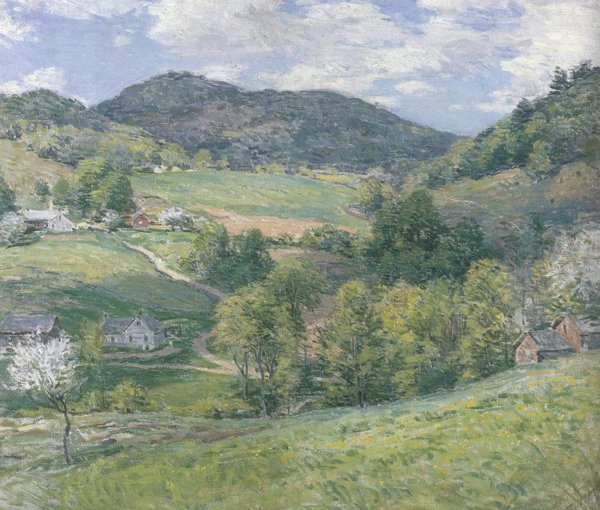 Spring In The Valley 1924 | Willard Leroy Metcalf | oil painting