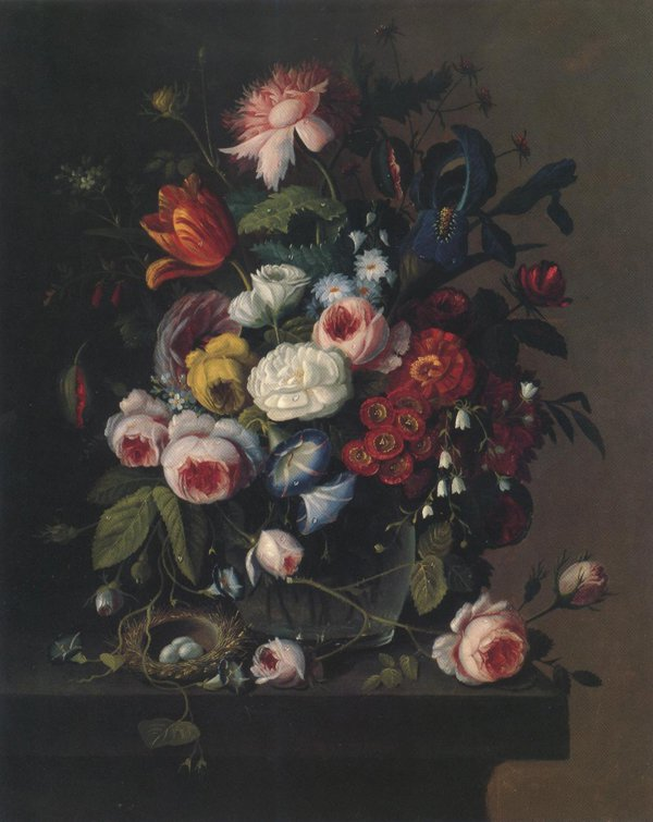 Floral Still Life With Nest Of Eggs 1851 52 | Severin Roesen | oil painting