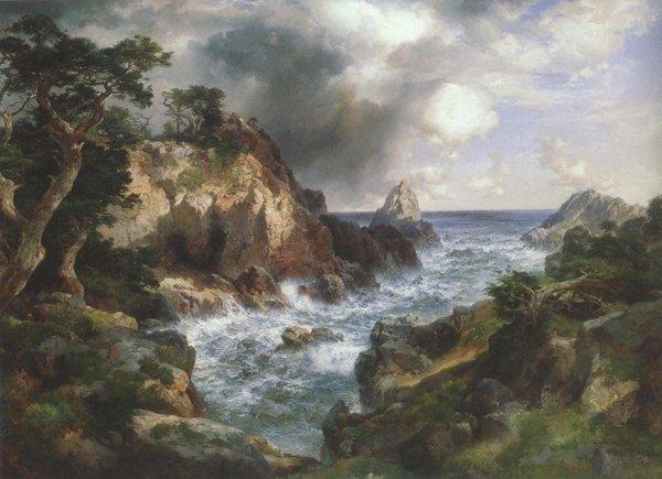 Point Lobos Monterey California 1912 | Thomas Moran | oil painting
