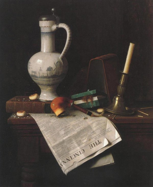 The Cincinnati Enquirer 1888   William Michael Harnett   oil painting